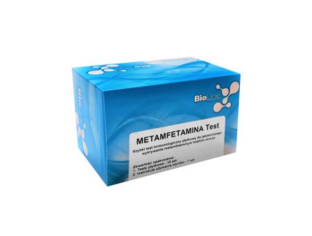 Płytkowy test narkotykowy wykrywający Metamfetaminę, BioLine Metamfetamina Test - test płytkowy, czułość 1000 ng/ml