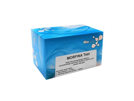 Płytkowy test narkotykowy wykrywający Morfinę, BioLine Morfina Test - test płytkowy, czułość 300 ng/ml