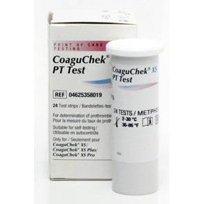 ROCHE CoaguChek XS  INR/PT (24 szt.)  - Testy paskowe