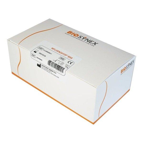 Influenza TOP A/B (20 testów) - szybki test kasetkowy do jakościowego wykrywania wirusów grypy typu A i B