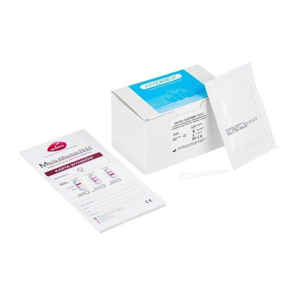 MICRO ALBUMIN TEST 10 szt. - szybki test do oznaczania albuminy w moczu